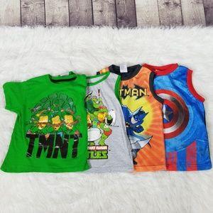 Other - Boy shirt bundle, sleeveless and short sleeve